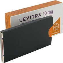 Image of open Levitra orodispersible treatment pack