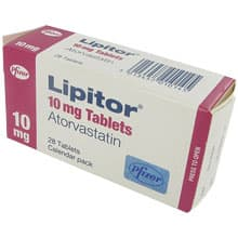 Image of a prescription pack of Lipitor used reduce cholesterol level