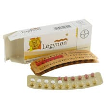 Image of a Logynon box with blister pack