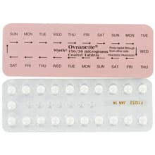 Front and rear view of Ovranette pill blister packs