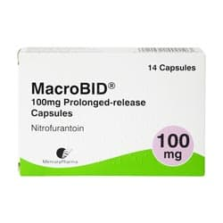 Pack of 14 Macrobid Capsules 100mg