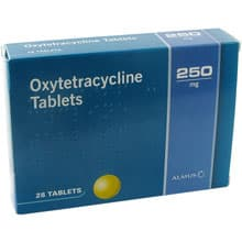 Pack of 28 Oxytetracycline 250mg tablets