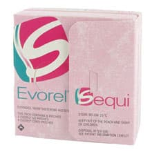 Pack of 8 Evorel Sequi comprising of 4 Evorel 50 patches and 4 Evorel Conti patches