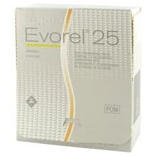 Pack of 8 Evorel 25 estradiol transdermal patches