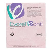 Pack of 24 Evorel Conti estradiol/norethisterone acetate patches