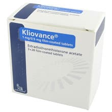 Pack of 84 Kliovance 1mg/0.5mg estradiol/norethisterone acetate film-coated tablets