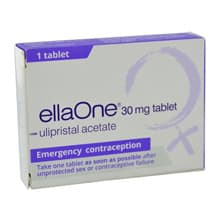 Pack of 1 ellaOne 30mg ulipristal acetate tablet